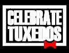 Celebrate Tuxedos White Lettered Logo Georgia