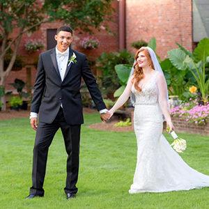 Celebrate Tuxedos Rankin Atrium Gardens Wedding Columbus GA