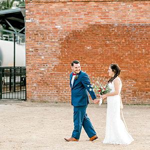 Celebrate Tuxedos Train Depot Wedding Newnan GA