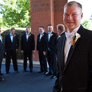 Celebrate Tuxedos Green Island Country Club Wedding Columbus GA
